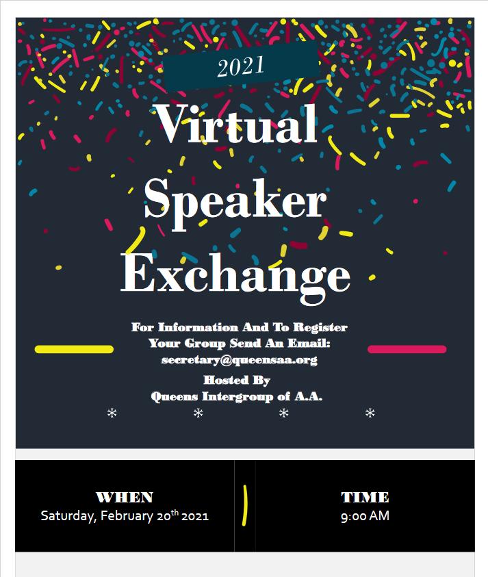 Queens Virtual Speaker Exchange